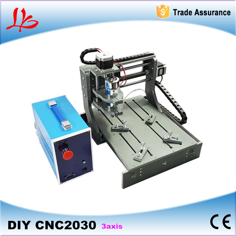 3 Axis CNC Router Machine Wood Engraver Engraving Machine 2030 with 300W  DC spindle cnc 2030 cnc wood router engraver 4 axis mini cnc milling machine with parallel port