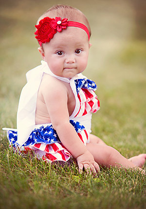 Memorial day,4th of july bubble romper,4th of July