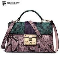 ZOOLER Snake Pattern Genuine Leather Bags 2017 Winter New Women S Shoulder Bag Ladies Fashion Handbag