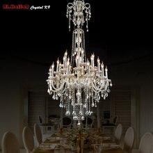 Длинные хрустальные люстры, люстры, подвесные люстры, хрустальная люстра, светильники, люстра для отеля, легкое лобби