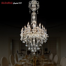 Long Crystal chandeler Lighting stairs Pendant Chandeliers led Chandelier Lights Fixtures Hotel  chandelier Light Lobby