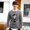 Mens Knitted Pullovers Man Autumn Winter New Fashion Embroidery O neck Thick Knitted Sweaters and Pullovers Jumper Teenager