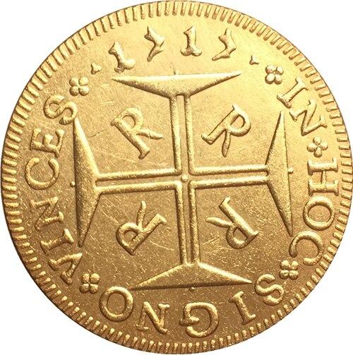 1717 Бразилия 4000 Reis Монеты Скопируйте Бесплатная доставка 30 мм