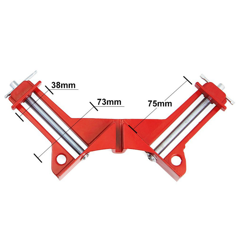 Corner Clamps 3inch 2pcs 90 Degree Right Angle Clamp Mitre Clamp for Wood Working Metal DIY Glass Picture Framing Jig Quick G in Clamps from Home Improvement
