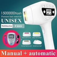 1500000 flash IPL laser hair removal machine laser epilator hair removal permanent bikini trimmer electric depilador laser women