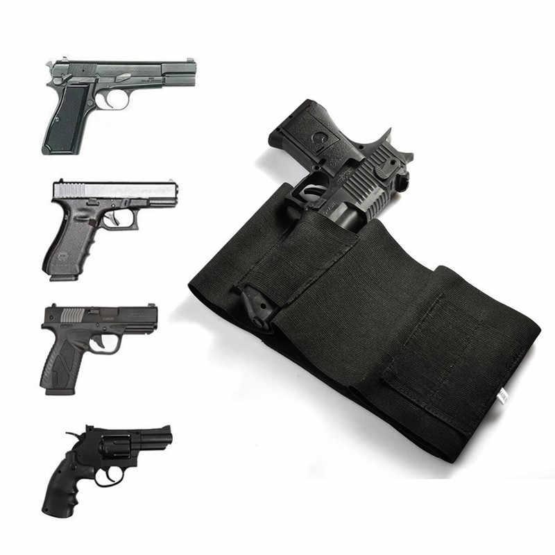 """التكتيكية حزام بطن الحافظة للبندقية 37 """"/31"""" مخفي بندقية مسدس كيس محمول حقيبة الخصر غير مرئية مطاطا الصيد حزام حزام"""