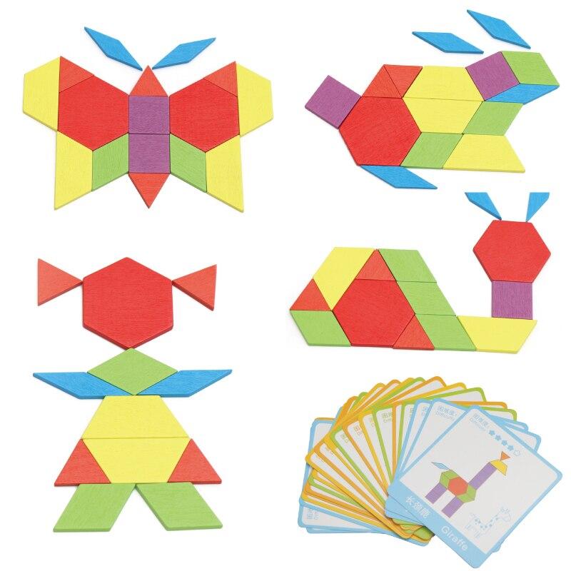 Деревянная игрушка Детские творческие животных головоломки 20 Рисунок карты головоломки обучения детей игрушки развивающие игрушки от 2 до ...