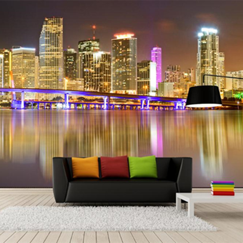 3D Custom Wall Murals City Theme Style Wallpapers for Living Room TV Sofa Background Home Decor Walls Papers Modern for Bedroom custom 3d murals forests trees rays of light tree nature photo wall living room sofa tv wall bedroom restaurant wallpapers