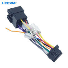LEEWA 10X Car Stereo Radio ISO 16-Pin PI100 Wire Harness Adapter For Pioneer 2003-on For Volkswagen Wire Connector Into Cable(China)