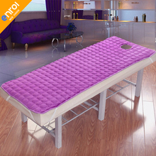 Massage table sheet SPA Beauty Bed With holes body care Non-slip mattress thick beauty salon bed sheets цена 2017