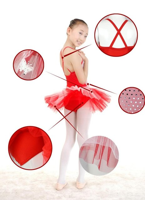 Unique Dancewear Spandex Ballet Practice/Performance Dress For Children  BQ03-5