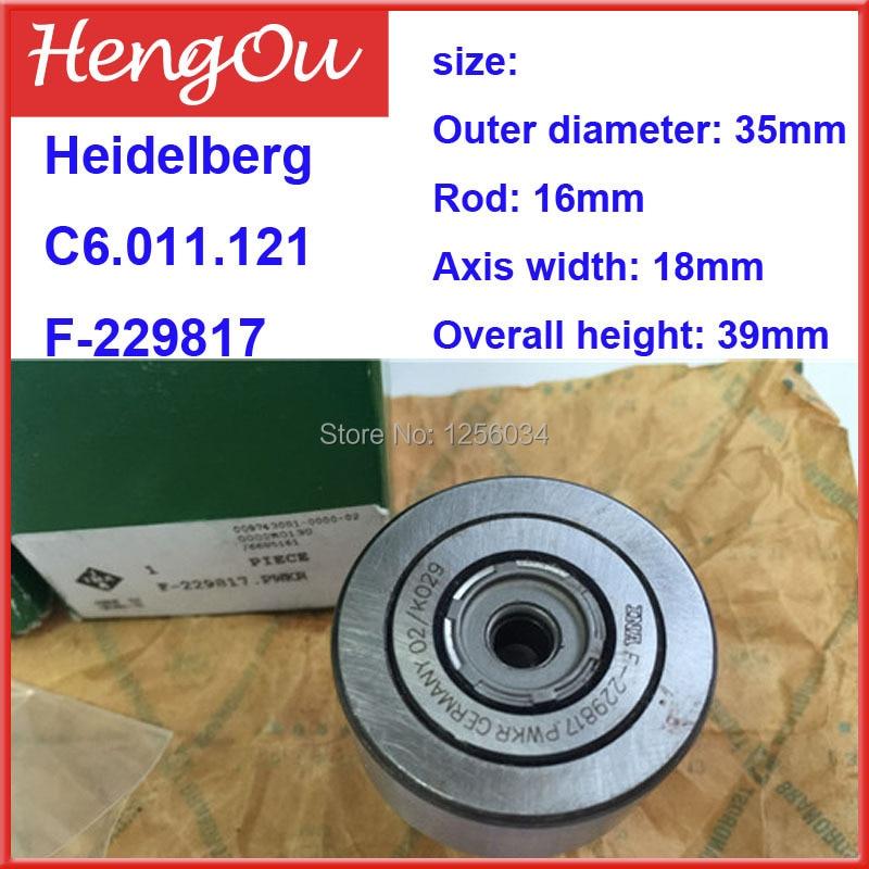 1 piece Heidelberg German original cam follower CD102 SM102 impression cylinder bearing F-229817,C6.011.121