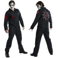 Top Quality Slipknot Joey Jordison Kabuki Cosplay Costumes Women Men Zipper Jumpsuits Role Play Halloween Party Suit New