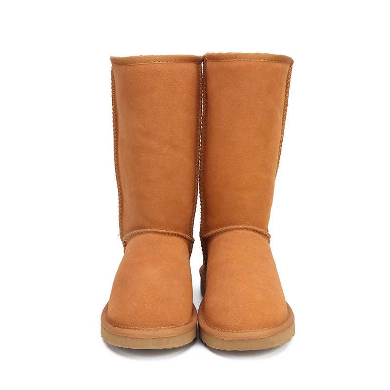 Mbr força botas de neve de pele de couro genuíno das mulheres superior alta qualidade austrália botas de inverno para mulheres quentes botas mujer