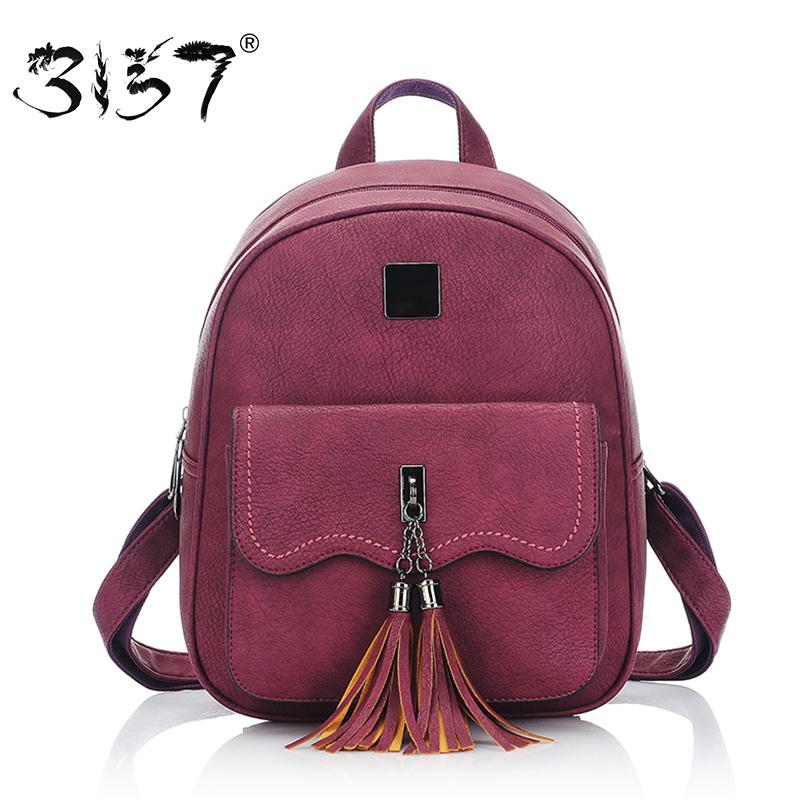 Prix pour Gland femmes en cuir sac à dos adolescente sacs à dos pour les filles vintage sac à dos féminin 3157 sac à dos femme