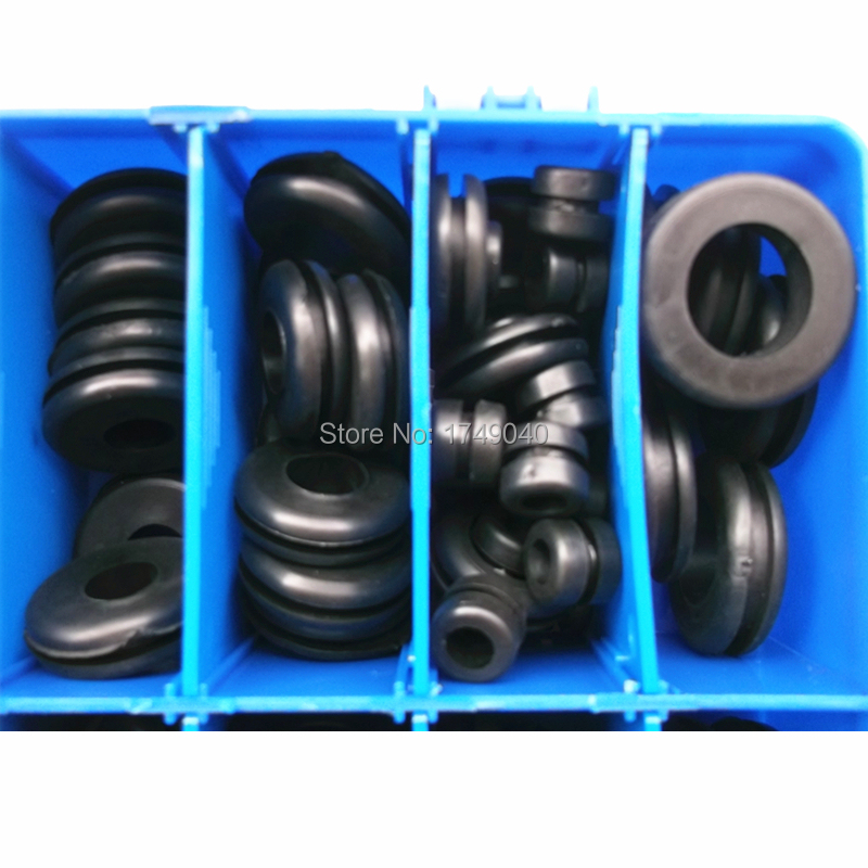 250pcs Rubber Grommet Hole Plug Electrical Wire Wiring Fastener ...