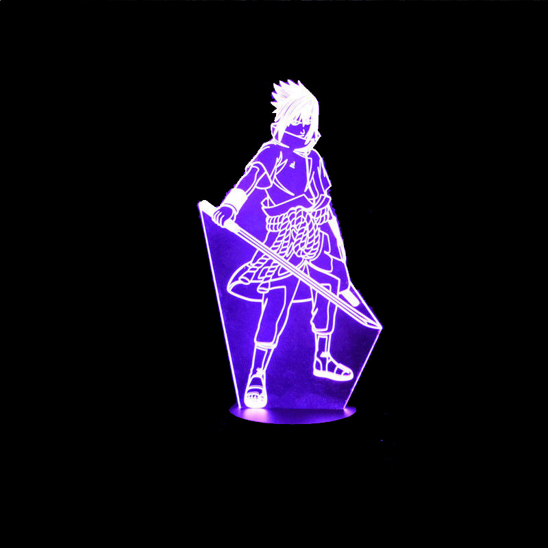 7 Color Changing Led Kids Bedside Sasuke Modelling Lighting Fixtures 3D Visual Anime USB Desk Lamp Home Decor Naruto Night Light novelty 3d full moon lamp led night light usb rechargeable color changing desk table light home decor 8 10 12 15 18 20cm