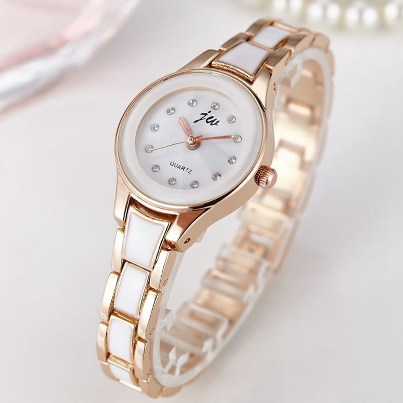 ebdfc1758df 2017 Nova Marca de Moda de Luxo Relógios Das Mulheres Pulseira Relógios De  Pulso de Quartzo Relógios Lady cristal Horas relojes mulheres livres do ...