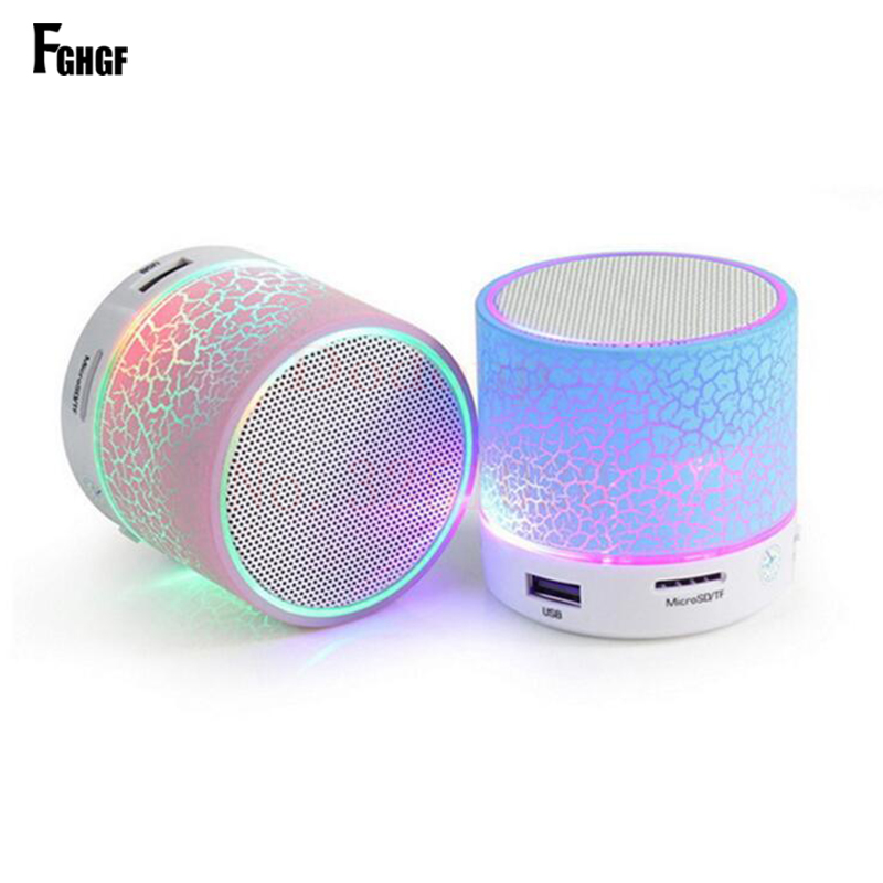 FGHGF NEW LED Bluetooth Wireless Speaker Subwoofer Loudspeakers Musical Audio For Phone With Mic TF USB FM Portable Speakers