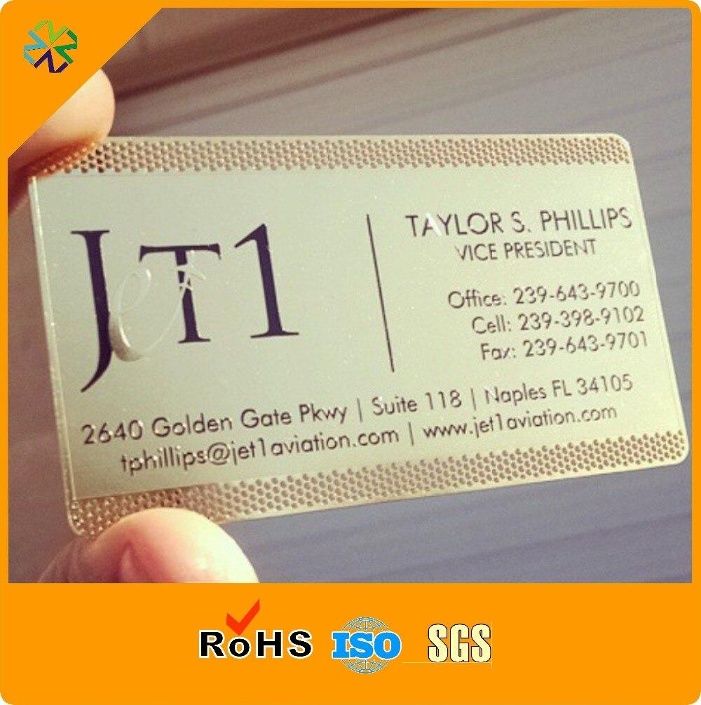 Us 159 29 Beliebte Cmyk Druck Billige Personalisierte Messing Geätzt Gedruckt Vergoldung Blank Marke Metall Visitenkarte Metall Vip Karte In