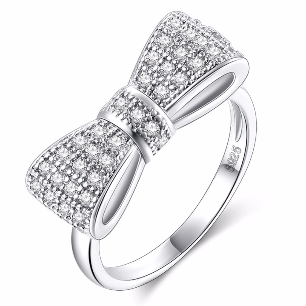 Wedding-Rings Jewelry Cubic-Zircon Crystal Engagement Valentine's-Gift Brand Ring Women