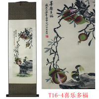 Flower Bird Pattern Silk Painting Decoration Scroll Painting And The New Special Gift Wholesale Auspicious The