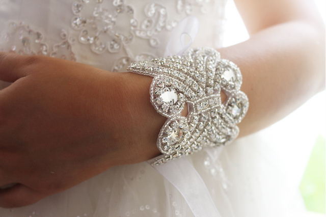 Handmade Crystal Beaded Bridal Bracelet Accessories Wedding Rhinestone Bridesmaid