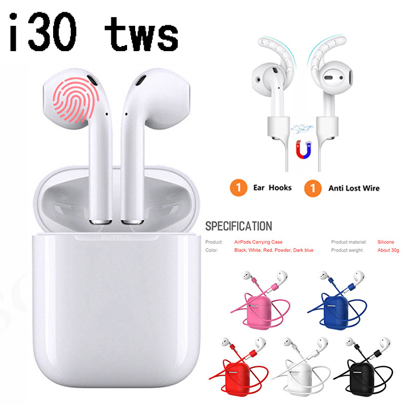 I30 Tws Wireless Bluetooth Earphones Ipods Ifans Auricular Cheapest In Ear Handsfree Earbud Ecouteur Casque Glowing Running Ipx7