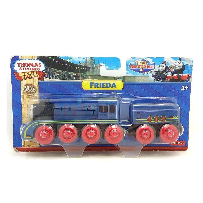 w99 תומאס וחברים קטר מגנטי מעץ FRIEDA + - צעצוע כלי רכב