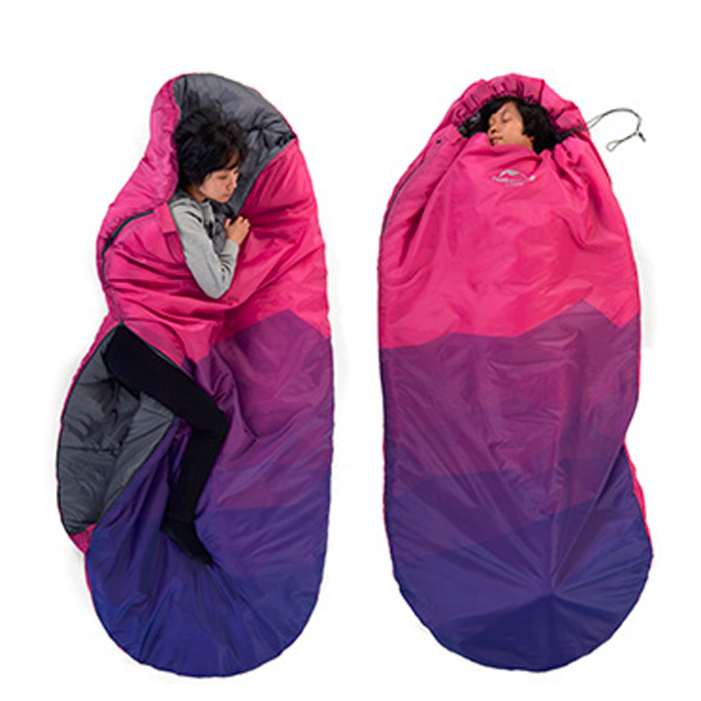 Outdoor 1 Person Sleeping Bag Envelope Camping Travel Warm Thick Winter Hot Promotion aotu outdoor sleeping bag adult thermal autumn winter envelope hooded travel camping water resistant thick sleeping bag