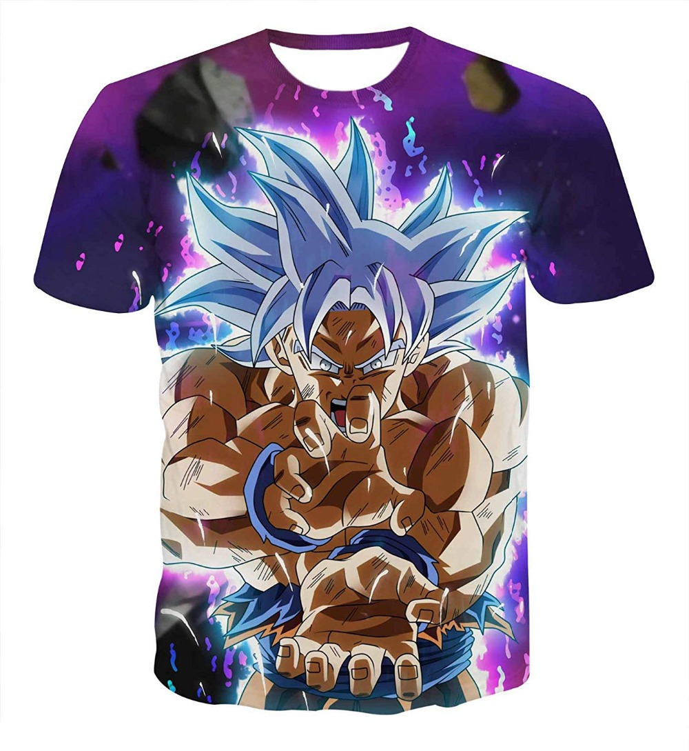 2019 New Dragon Ball Fashion T Shirt Men Summer Casual Goku Fitness Cosplay 3D Men T-Shirt Unisex Anime Super Saiyan Tops Tshirt