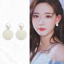 1 Pair Women Temperament Popular Simple Stud Earrings Girls Charming Elegant Simulation Pearl Beads Stud Earrings Jewelry Gift pair of charming rhinestone faux opal stud earrings
