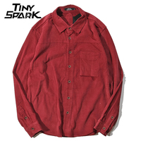 Corduroy Mens Shirt Long Sleeves Casual Shirt Cotton Luxury Brand Blouse Men S Clothings Fashion 2018