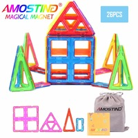 26PCS Big Size Magnetic Building Blocks Toys Enlighten Bricks Educational Magnetic Designer Construction Building Blocks