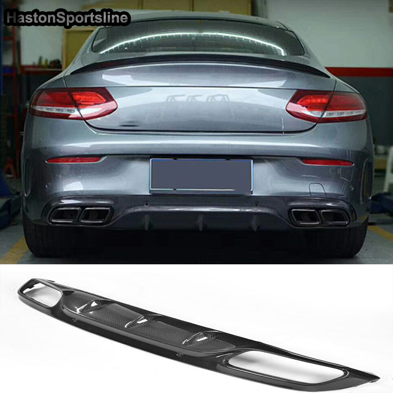 W205 C63 AMG Coupe Carbon Fiber Car Rear Diffuser For