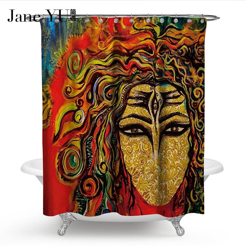 JaneYU 19 Colors 3D printed bath window curtain Bathroom Decoration ...