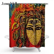 JaneYU 19 Colors 3D printed bath window curtain Bathroom Decoration