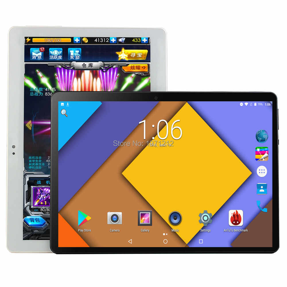 BOBARRY S106 tableta de 10 pulgadas Android 8,0 Octa Core 6GB RAM 128GB ROM 8 núcleos 1280*800 IPS tabletas de pantalla 10,1