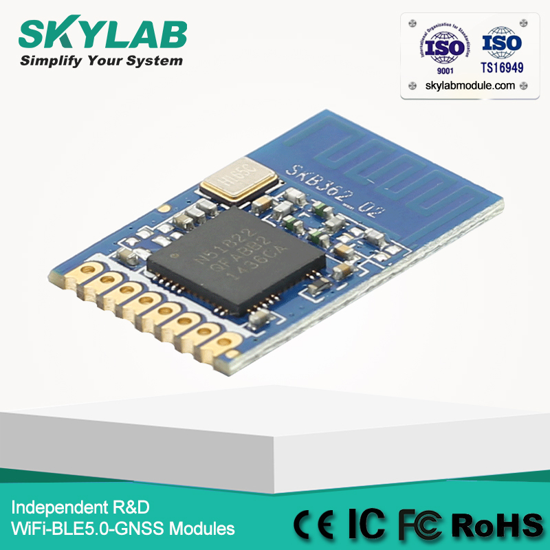 SKYLAB SKB362 CE/FCC/RoHS 70m Long Range Bluetooth BLE nRF51822 Bluetooth Tag Beacon Module