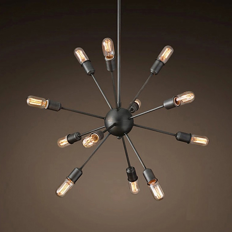 цены  Modern big satellite style pendant Lamp iron Loft Lights American Country E27 for living room ding room bar cafe office bedroom