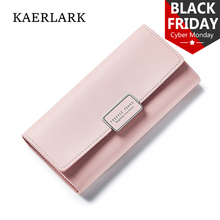 KAERLARK Brand New Luxury Fashion Women PU Purse Long Organizer Soft Wallet Girls Ladies Leather Clutch Bags Thin Edition WQ0035