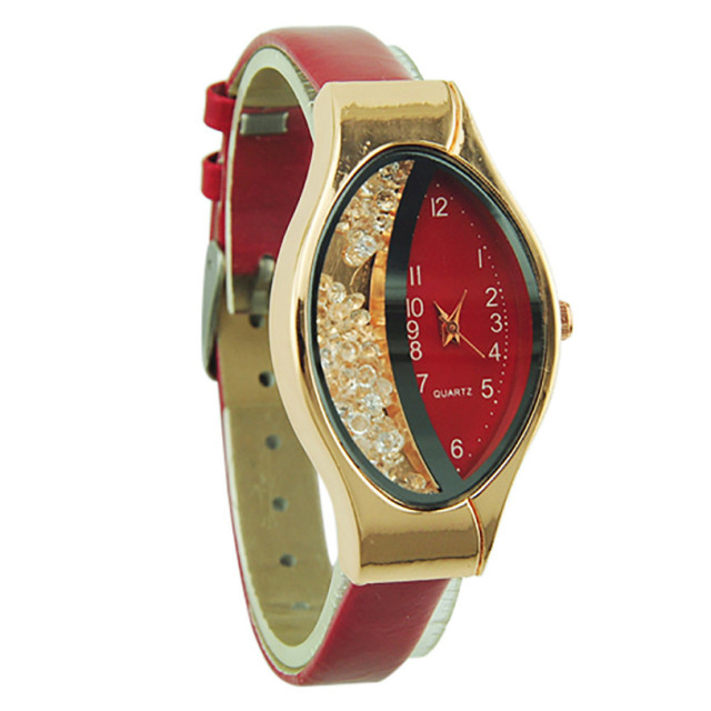 Leather Candy Color  Analog Quartz Wrist Watch