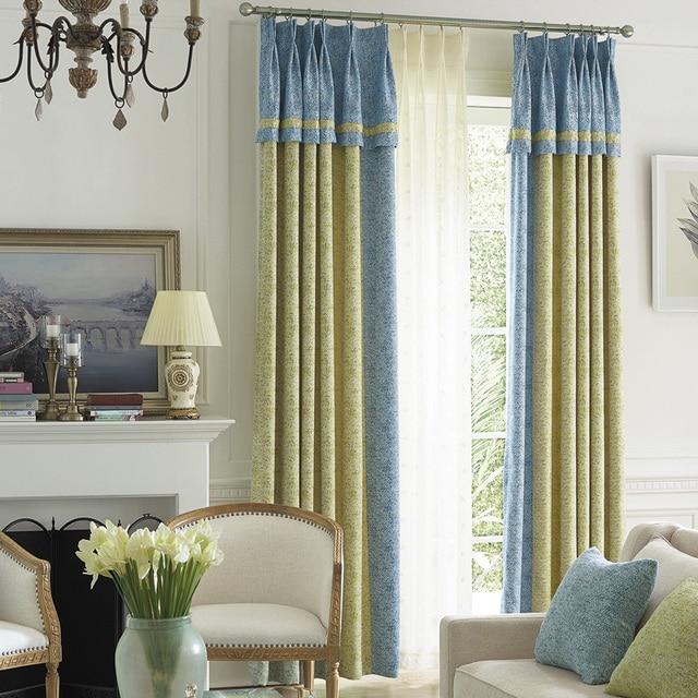 dubbele jacquard window panel gordijnen slaapkamer verduisterende katoen blind stof dikke kant gordijnen woonkamer zachte tulle