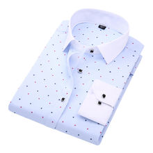 DAVYDAISY Men Shirt Long Sleeved Solid Floral Printing Plaid Casual Male Shirts Brand Clothing 10 Colors Dress Shirt Man DS013