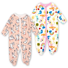 2 Pack Baby Boys Girls Clothes Newborn Babies Winter Sleepwear Pajama Comfortable 100%cotton Infant Long Sleeve Jumpsuit Rompers(China)