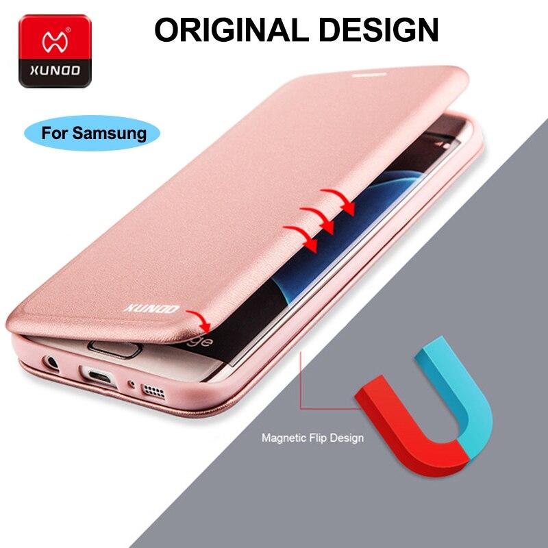 Роскошные 360 полной защиты чехол для samsung Galaxy <font><b>S7</b></font> край Note9 Note8 S8 плюс телефон Кожаный противоударный защитный флип-чехол случаях