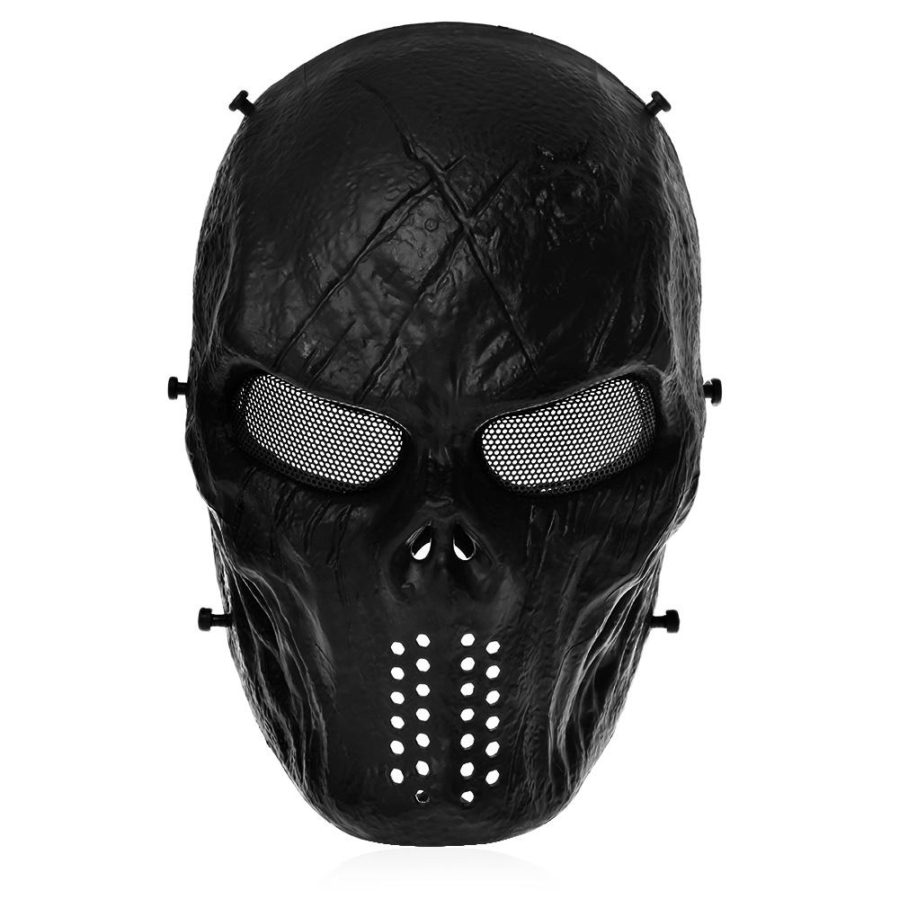 Airsoft Paintball Tactical Full Face Protection Skull Mask CS War BB Game MASK M06 Safety Paintball Sport Accessory цена 2017