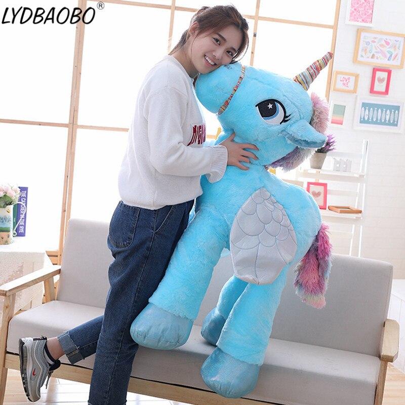 1 unid 90 cm gigante peluche muñecas Kawaii Cartoon Rainbow unicornio peluche juguetes niños presente juguetes niños bebé regalo de Cumpleaños