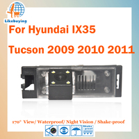 1/4 Color CCD HD Rear View Camera / Parking Camera For Hyundai IX35 Tucson 2009 2010 2011 Night Vision / Waterproof / LED Lights