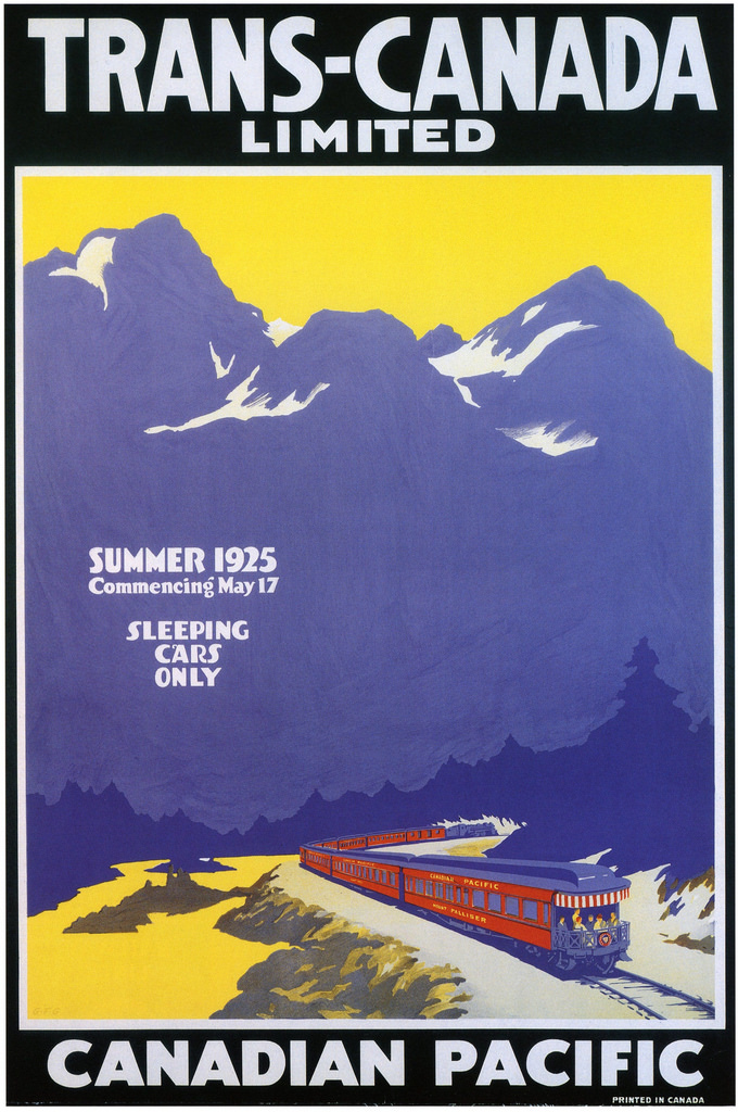 Canada Travel Pacific Vintage Travel Poster Print T532 A4 A3 A2 A1 A0 